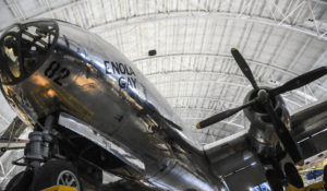 Enola Gay on display after restoration